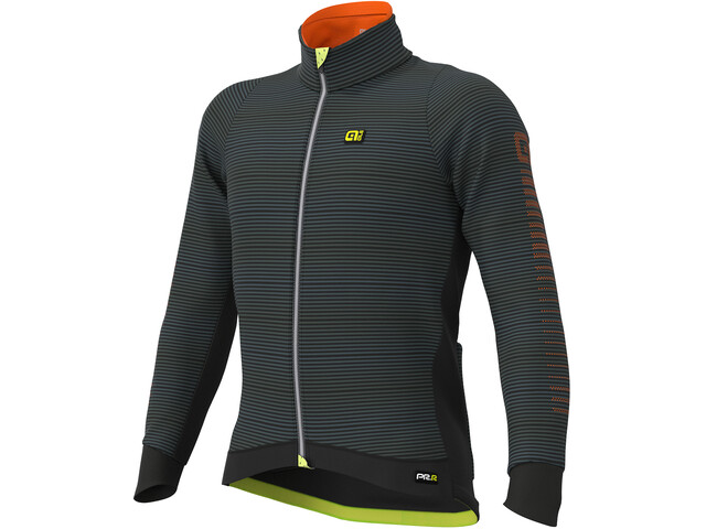 Alé Cycling Graphics PRR Thermo Road Jas Heren, black-fluo yellow